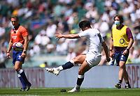 4th July 2021; Twickenham, London, England; International Rugby, Autumn Internationals, England versus United States of America; Marcus Smith of England kicks a conversion