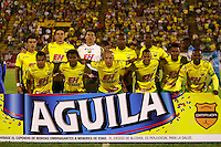 NEIVA - COLOMBIA -07 -02-2015: Los jugadores de Atletico Huila, posan para una foto, durante partido entre Atletico Huila y Jaguares FC, por la fecha 2 de la Liga Aguila I-2015, jugado en el estadio Guillermo Plazas Alcid de la ciudad de Neiva. / The players of Atletico Huila, pose for a photo during a match between Atletico Huila and Jaguares FC for the  date 1 of the Liga Aguila I-2015 at the Guillermo Plazas Alcid Stadium in Neiva city, Photo: VizzorImage / Chello Petro / Str.