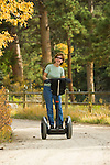 Folks of all ages enjoy the freedom and control of riding Segways through fall colors in Estes Park , Colorado, high in the Rocky Mountains. Segways provided by Segway of Northern Colorado
