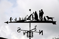 """BNPS.co.uk (01202 558833)<br /> Pic: ZacharyCulpin/BNPS<br /> <br /> Pictured: Graham said, """"Sometimes people send me pictures of their family so I can create them in the weathervane.<br /> <br /> Something in the wind..<br /> <br /> While Covid caused much of the world to slow down, business has been booming for weathervane maker Graham Smith.<br /> <br /> The former precision engineer has been so busy he has been working seven days a week and has had to close his books to new orders.<br /> <br /> Graham hand-crafts all his weathervanes, creating intricate designs and can even recreate families or significant events.<br /> <br /> With people stuck at home in lockdown and looking at DIY and home improvements, he said he has had his busiest year."""