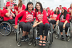 Chantal Petitclerc and Michelle Stilwell, Rio 2016.<br /> The flag raising welcome ceremony for Canada in the Paralympic Village // Cérémonie d'accueil de lever du drapeau du Canada au village paralympique. 05/09/2016.
