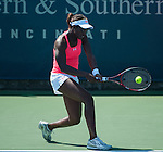 Sloane Stephens (USA) wins at the Western and Southern Financial Group Masters Series in Cincinnati on August 15, 2012