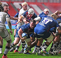 5th February 2021; Ashton Gate Stadium, Bristol, England; Premiership Rugby Union, Bristol Bears versus Sale Sharks; Bryan Byrne of Bristol Bears breaks from a maul to score the first try of the match