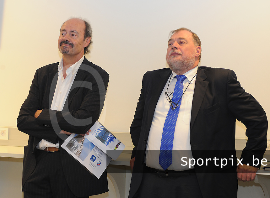 K AA Gent Ladies : Patrick Lips (links) en Philippe Bracke<br /> foto Dirk Vuylsteke / nikonpro.be