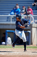 Bowling Green Hot Rods right fielder Eleardo Cabrera (25) at bat during a game against the Beloit Snappers on May 7, 2017 at Pohlman Field in Beloit, Wisconsin.  Bowling Green defeated Beloit 6-2.  (Mike Janes/Four Seam Images)