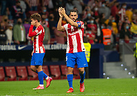 2nd October 2021; Estadio Wanda Metropolitano, Madrid, Spain; La Liga Football, Atletico de Madrid versus Futbol Club Barcelona; Koke applauds the fans after the victory