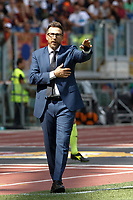 Roma's coach Eusebio Di Francesco gives indications to his players during the Italian Serie A football match between Roma and Chievo Verona at Rome's Olympic stadium, September 16, 2018.<br /> UPDATE IMAGES PRESS/Riccardo De Luca