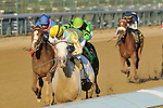 31 October 2010: Julien Leparoux and Dancinginherdreams take the G2 Pocahontas Stakes at Churchill Downs in Louisville, Kentucky.
