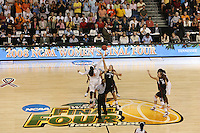 8 April 2008: Stanford Cardinal Jayne Appel and Kayla Pedersen during Stanford's 64-48 loss against the Tennessee Lady Volunteers in the 2008 NCAA Division I Women's Basketball Final Four championship game at the St. Pete Times Forum Arena in Tampa Bay, FL.