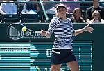 April 7,2017:   Irina-Camelia Begu (ROM) loses to Daria Kasatkina (RUS) 6-4, 6-1, at the Volvo Car Open being played at Family Circle Tennis Center in Charleston, South Carolina.  ©Leslie Billman/Tennisclix/Cal Sport Media