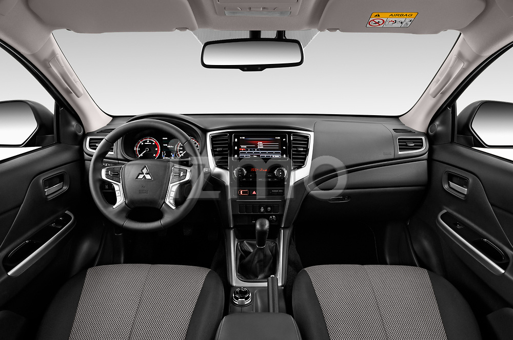 Stock photo of straight dashboard view of 2020 Mitsubishi L200 Intense 4 Door Pick-up Dashboard