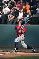 Scott Kingery (25) of the Arizona Wildcats bats during a game against the UCLA Bruins at Jackie Robinson Stadium on May 16, 2015 in Los Angeles, California. UCLA defeated Arizona, 6-0. (Larry Goren/Four Seam Images)