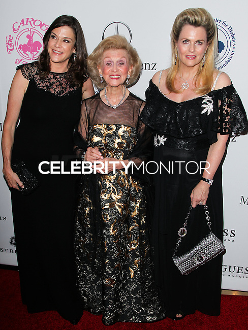BEVERLY HILLS, CA, USA - OCTOBER 11: Nancy Davis, Barbara Davis arrive at the 2014 Carousel Of Hope Ball held at the Beverly Hilton Hotel on October 11, 2014 in Beverly Hills, California, United States. (Photo by Celebrity Monitor)