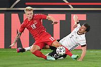 2nd June 2021, Tivoli Stadion, Innsbruck, Austria; International football friendy, Germany versus Denmark;   Mats HUMMELS GER tackled by Daniel WASS DEN