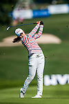 Su-Yeon Jang of Korea hits her shot during the Hyundai China Ladies Open 2014 at World Cup Course in Mission Hills Shenzhen on December 14 2014, in Shenzhen, China. Photo by Xaume Olleros / Power Sport Images