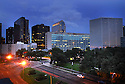 City Hall is one of the building developers hope to replace with a jazz park in  New Orleans, Aug. 5, 2006.<br /> (Cheryl Gerber for New York Times)