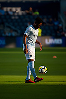 Kansas City, KS - Wednesday August 9, 2017: Soni Mustivar during a Lamar Hunt U.S. Open Cup Semifinal match between Sporting Kansas City and the San Jose Earthquakes at Children's Mercy Park.