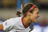 SAN JOSE, CA - DECEMBER 6: Sophia Smith #9 of the Stanford Cardinal celebrates scoring during a game between UCLA and Stanford Soccer W at Avaya Stadium on December 6, 2019 in San Jose, California.