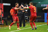15th November 2020; Leuven, Belgium;  Dries Mertens forward of Belgium celebrates after scoring during the UEFA Nations League match group stage final tournament - League A - Group 2 between Belgium and England