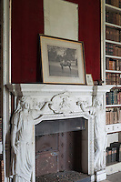 The classical marble fireplaces which are a feature of the library have been painstakingly cleaned and restored