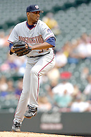 10 September 2006: Pedro Astacio, pitcher for the Washington Nationals, on the mound against the Colorado Rockies. The Rockies defeated the Nationals 13-9 at Coors Field in Denver, Colorado...Mandatory Photo Credit: Ed Wolfstein.