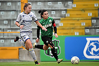 Sofia Meneghini of Hellas Verona and Valeria Pirone of Sassuolo compete for the ball during the women Serie A football match between US Sassuolo and Hellas Verona at Enzo Ricci stadium in Sassuolo (Italy), November 15th, 2020. Photo Andrea Staccioli / Insidefoto