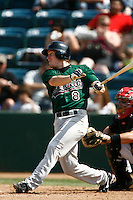 May 20, 2007: Rusty Ryal of the Visalia Oaks bats against the Rancho Cucamonga Quakes at The Epicenter in Rancho Cucamonga,CA.  Photo by Larry Goren/Four Seam Images