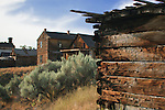 Jail, School House, Bannack, Montana, a ghost town preserved as a Montana State Park. Camping is peaceful, the town historic.  A remnant of Montana's gold mining history the park is west of Dillon, Montana a few miles off State Highway 278.  Masonic Lodge was upstairs.