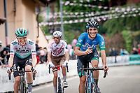 Giovanni Aleotti (ITA/BORA - hansgrohe) & Samuele Rivi (ITA/EOLO-Kometa) are happy to race up the 15% climb in Guarene, 15 kilometers from the finish <br /> <br /> 104th Giro d'Italia 2021 (2.UWT)<br /> Stage 3 from Biella to Canale (190km)<br /> <br /> ©kramon