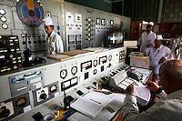 The control room of the nuclear reactor inside the Institute of Nuclear Physics in Almaty where technicians load the radioactive substance into casks. The removal of Kazakhstan's highly enriched uranium (HEU) is part of the U.S. Global Threat Reduction Initiative (GTRI) which tries to secure nuclear material around the world to prevent their misuse.