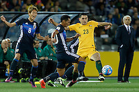 October 11, 2016: TOMAS ROGIC (23) of Australia controls the ball during a 3rd round Group B World Cup 2018 qualification match between Australia and Japan at the Docklands Stadium in Melbourne, Australia. Photo Sydney Low Please visit zumapress.com for editorial licensing. *This image is NOT FOR SALE via this web site.