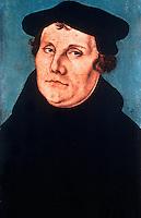 Renaissance Art:  Lukas Cranach--Martin Luther.  Galleria Uffizi.