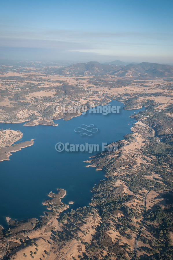 Amador aerials..Pardee Reservoir nearly full