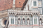 Europe, Italy, Tuscany, Florence, Duomo Detail, Basilica di Santa Maria del Fiore, Florence's main cathedral