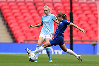 29th August 2020; Wembley Stadium, London, England; Community Shield Womens Final, Chelsea versus Manchester City; Fran Kirby of Chelsea Women challenges Esme Morgan of Manchester City Women