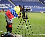 15.05.2021 Rangers v Aberdeen: Alfredo Morelos taking pictures