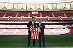 Atletico de Madrid's new player Luis Suarez (l) with the President Enrique Cerezo. September 25,2020.(ALTERPHOTOS/Atletico de Madrid/Pool)