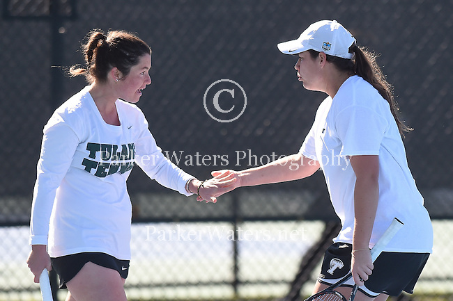 Tulane Women's Tennis plays host to FSU in a match on January 18, 2016 at  City Park/Pepsi Tennis Center.