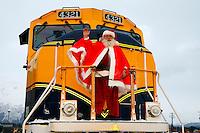Holiday Train, Alaska Railroad, Seward, Alaska