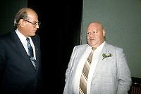 Le Senateur et cardiologue Paul David et le depute Jean-Claude malepart, vers 1990<br /> <br /> (date exacte inconnue)<br /> <br /> PHOTO D'ARCHIVE : Agence Quebec Presse