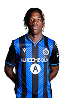20th August 2020, Brugge, Belgium;  Nathan Fuakala pictured during the team photo shoot of Club Brugge NXT prior the Proximus league football season 2020 - 2021 at the Belfius Base camp