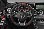 Car pictures of steering wheel view of a 2016 Mercedes Benz C-Class AMG-C63-S 4 Door Sedan Steering Wheel