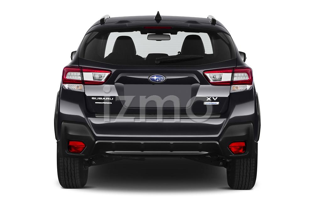 Straight rear view of 2020 Subaru XV-boxer Premium 5 Door SUV Rear View  stock images