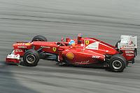 Spanish Fernando Alonso on Ferrari F2012 .24/03/2012 Grand Prix Malesia, Sepang , Essais..Foto Insidefoto  /Bernard Asset / Panoramic.ITALY ONLY..