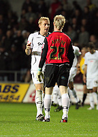 Pictured: Garry Monk of Swansea City in action <br /> Re: Coca Cola Championship, Swansea City Football Club v Queens Park Rangers at the Liberty Stadium, Swansea, south Wales 21st October 2008.