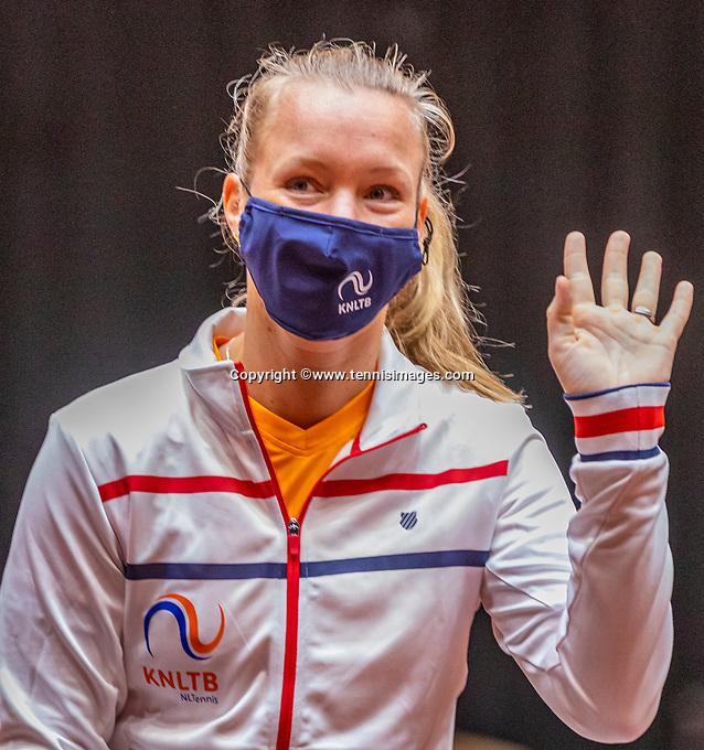 Den Bosch, The Netherlands, April 15, 2021,    Maaspoort, Billy Jean King Cup  Netherlands -  China : Draw ,   Aranxta Rus (NED)<br /> Photo: Tennisimages/Henk Koster