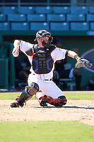 New York Mets minor league catcher Blake Forsythe (3) during a game vs. the Minnesota Twins in an Instructional League game at City of Palms Park in Fort Myers, Florida;  October 4, 2010.  Photo By Mike Janes/Four Seam Images