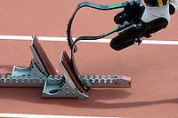 Oscar Pistorius Sud Africa,  è il primo atleta che gareggia con protesi in carbonio alle gambe,.London 04/08/2012 .London 2012 Olympic games  - Men s 400m Heat of Athletics - Olimpiadi Londra 2012 - 400m Uomini Atletica.Olympic Stadium.Foto Jimmy Bolcina / Panoramic / Insidefoto.ITALY ONLY..