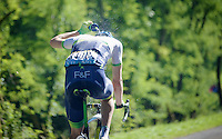 Luke Durbridge (AUS/Orica-GreenEDGE) showering mid-race (to cool down in the blistering heat)<br /> <br /> 2014 Tour de France<br /> stage 12: Bourg-en-Bresse - Saint-Etiènne (185km)