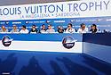 Louis Vuitton Trophy La Maddalena 21 maggio 2010. Manca solo un giorno all'inizio delle regate. E' in corso la cerimonia ufficiale di presentazione dell'evento. Gli skipper delle dieci squadre che prenderanno parte all'evento si presentano al pubblico e alla stampa